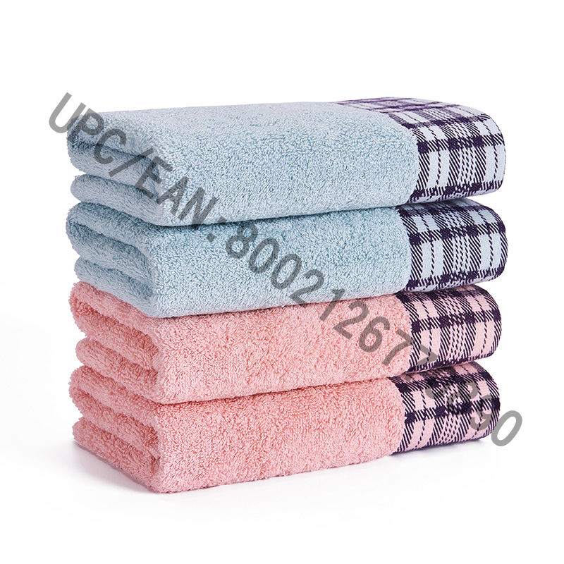 JMD TEXTILE Bathroom Towel Set, 4 Pieces British Style Jacquard Towel,Large Bath Towels 100% Cotton,Suitable for Pool, Gym, Hotel,Travel,College Dorm Room Accessories